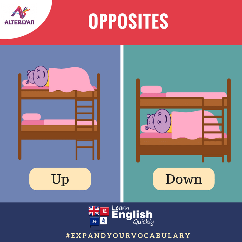 English Antonyms, English Opposites