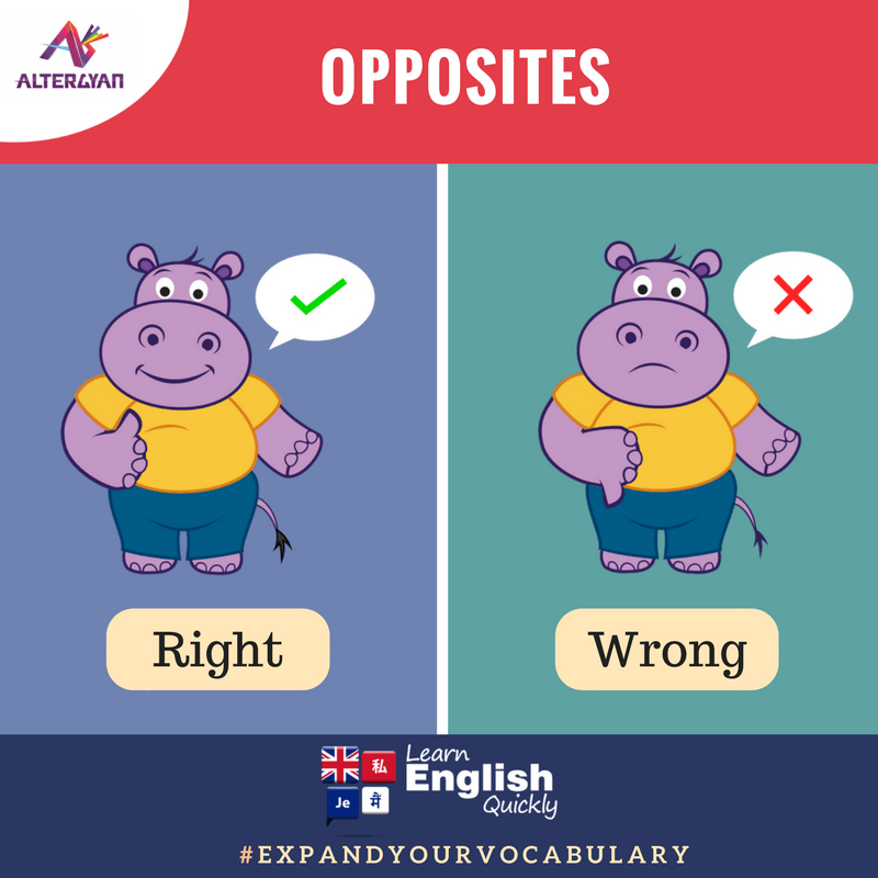 English Antonyms, English Opposite